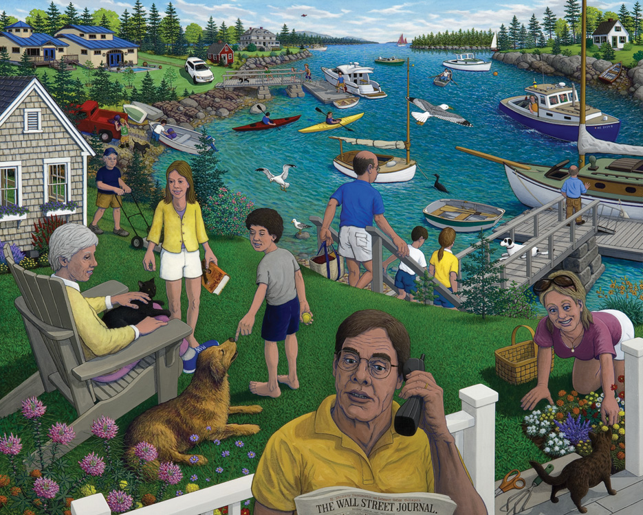 ROBERT SHILLADY Summer People, acrylic on canvas, 40 x 50 inches