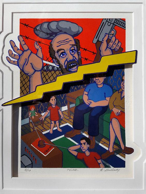 ROBERT SHILLADY T.V.O.D., silkscreen, 11 x 8 inches