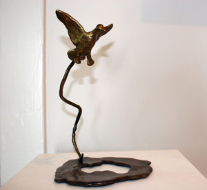CYNTHIA STROUD Puddle Jumper unique bronze, 10 x 7 x 7 inches $1500
