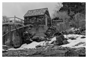 ALAN VLACH Black Point Inn Pump Station photopolymer gravure, 6 x 9.25 inches