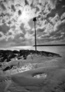 ALAN VLACH Day Marker Ferry Beach salted paper print, 18 x 12 inches