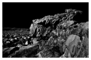 ALAN VLACH East Point Rock #1 photopolymer gravure, 6 x 9.5 inches
