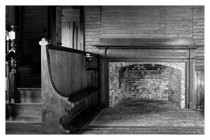 ALAN VLACH Homer Fireplace photopolymer gravure, 6 x 9.5 inches