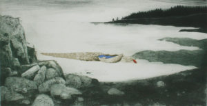 CHARLES WADSWORTH Rowboat and Bouy intaglio and collagraph, 16 x 31.5 inches $2100