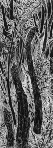CHARLES WADSWORTH Trees, 1960 woodblock print, 12 x 4.5 inches $950