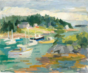 ROSIE MOORE Boats in Corea oil on canvas, 36 x 30 inches $5800