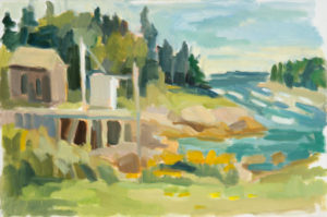ROSIE MOORE Inlet oil on canvas, 36 x 24 inches