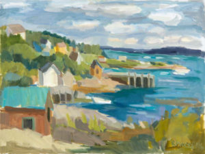 ROSIE MOORE Over the Bay oil on canvas, 30 x 40 inches $6000
