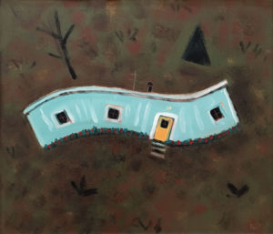 PHILIP BARTER Hillside with Trailer acrylic on board, 24 x 28 inches $3000