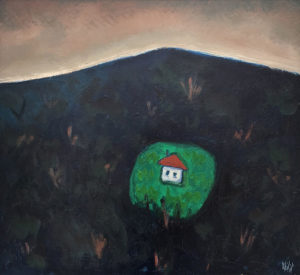 PHILIP BARTER Hillside Home acrylic on board, 24 x 26 inches $3000