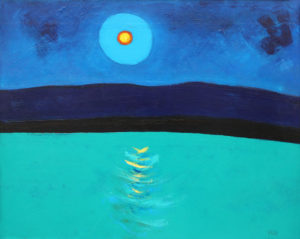 PHILIP BARTER Moonrise Across the Lake acrylic on board, 24 x 29.5 inches $3200