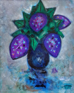 PHILIP BARTER Lilacs acrylic on board, 28 x 22 inches $2800