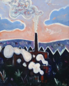 PHILIP BARTER Power Plant, Eustice, Maine acrylic on board, 24 x 30 inches $3200