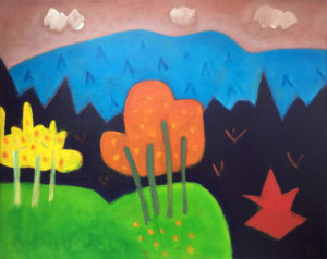 PHILIP BARTER Saddleback Mountain acrylic on board, 24 x 30 inches $3200