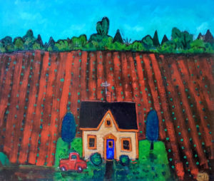 PHILIP BARTER Spring, Prince Edward Island acrylic on board, 24 x 30 inches $3000