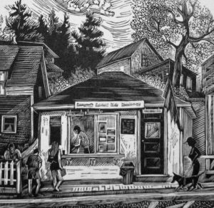 SIRI BECKMAN Ice Cream wood engraving, edition of 100, 3.5 x 3.5 inches $200.