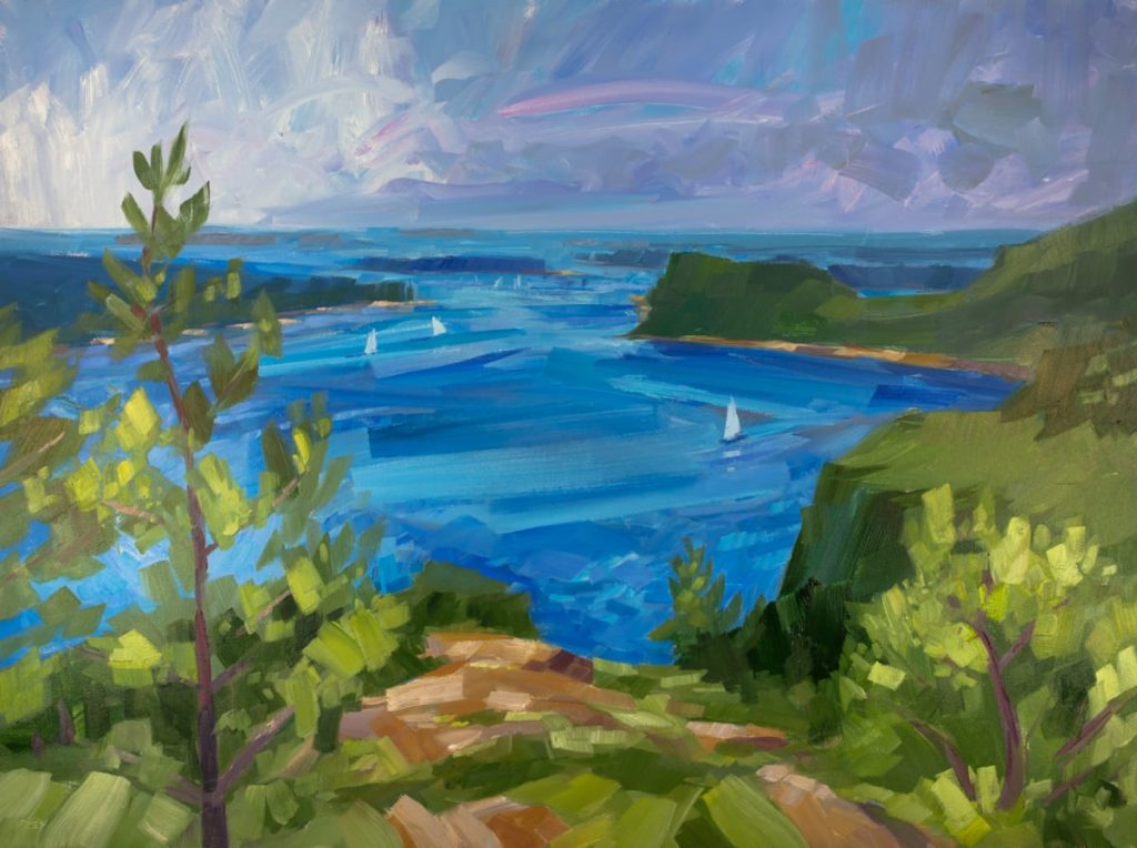 PHILIP FREY Peaceful Expanse oil on canvas, 36 x 48 inches