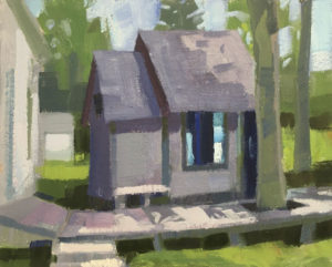 PHILIP FREY Cute Cottage oil on canvas, 8 x 10 inches $900