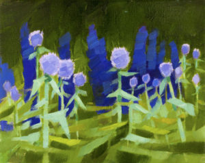 PHILIP FREY Indigo & Violet oil on canvas, 8 x 10 inches $900
