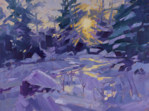 PHILIP FREY Ode to Winter oil on canvas, 30 x 40 inches $6800
