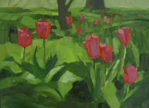 PHILIP FREY Spring Tulip Bloom oil on canvas, 12 x 16 inches $1600