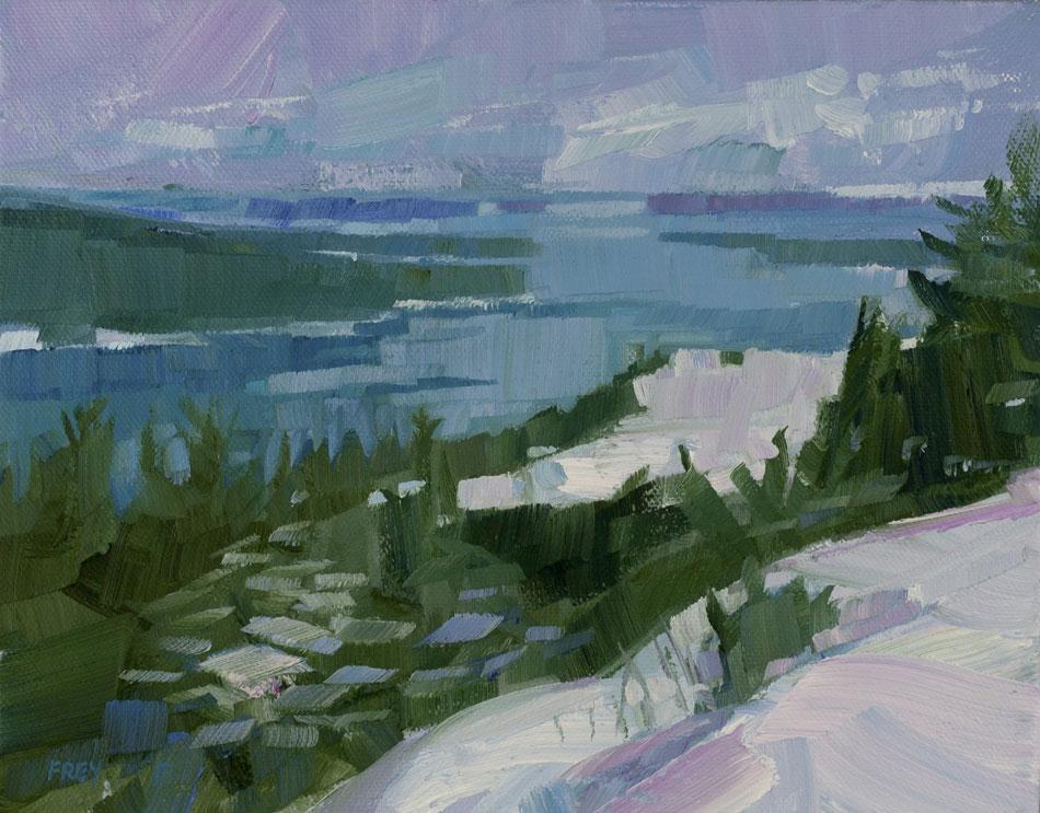 PHILIP FREY Wintertide, oil on canvas, 8 x 10 inches