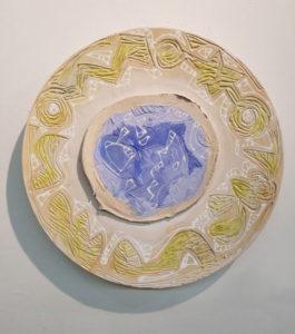CHARLIE HEWITT Platter II ceramic, 20 x 20 inches $2500