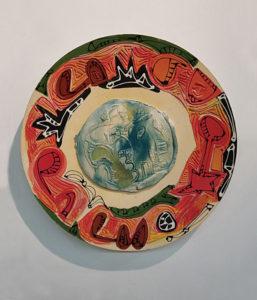 CHARLIE HEWITT Platter III ceramic, 20 x 20 inches $2500