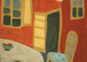 JUDITH LEIGHTON Departure, pastel, 24 x 20 inches
