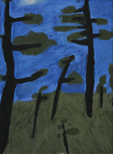 JUDITH LEIGHTON Persistent Trees pastel, 23 x 17 inches $3000