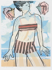 HOLLY MEADE Take Me to the Sea woodblock print, 24 x 18 inches edition of 6 $1800