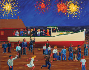 JOHN NEVILLE July 4th World Cruise oil on canvas, 22 x 28 inches $5200