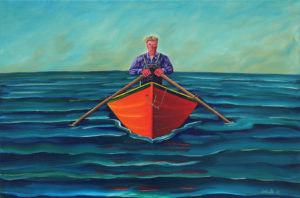 JOHN NEVILLE Rower Standing Up oil on canvas, 24 x 36 inches $6400