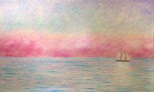 JOHN NEVILLE Schooner at Dawn oil on canvas, 36 x 60 inches $12,400