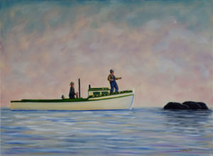 JOHN NEVILLE The Rock oil on canvas, 18 x 24 inches $3800