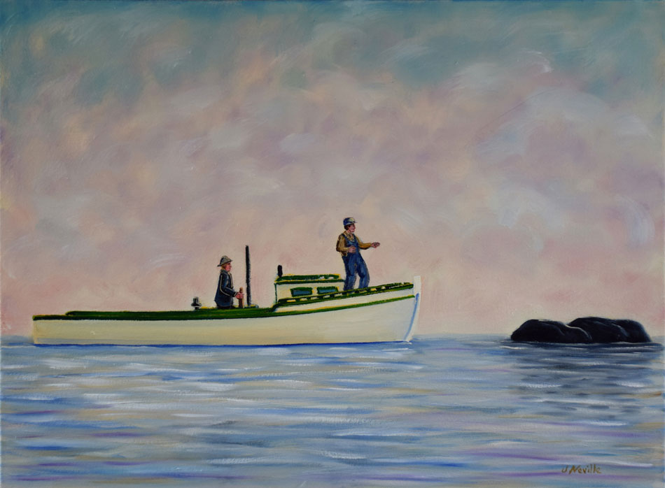 JOHN NEVILLE The Rock, oil on canvas, 18 x 24 inches