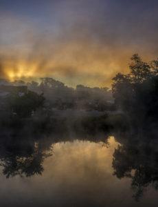 HEATH PALEY Ellsworth Sunrise dye-sublimation on aluminum, 47.5 x 36.4 inches