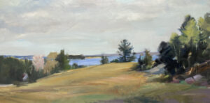 KATE EMLEN Anticipation oil on linen, 25 x 50 inches $7000