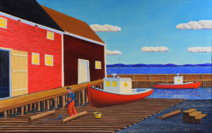 JOHN NEVILLE Greasing the Skids, East Ironbound oil on canvas, 38 x 60 inches $12,800