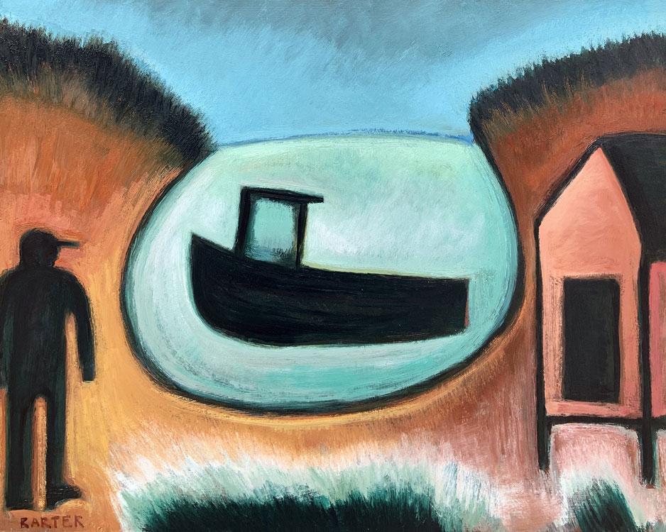 Matt Barter, Mackerel Cove 11, oil on canvas, 24 x 30 inches