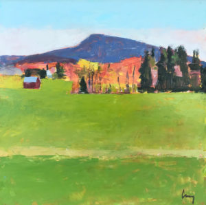 TOM CURRY Pasture oil on canvas, 12 x 12 $1400
