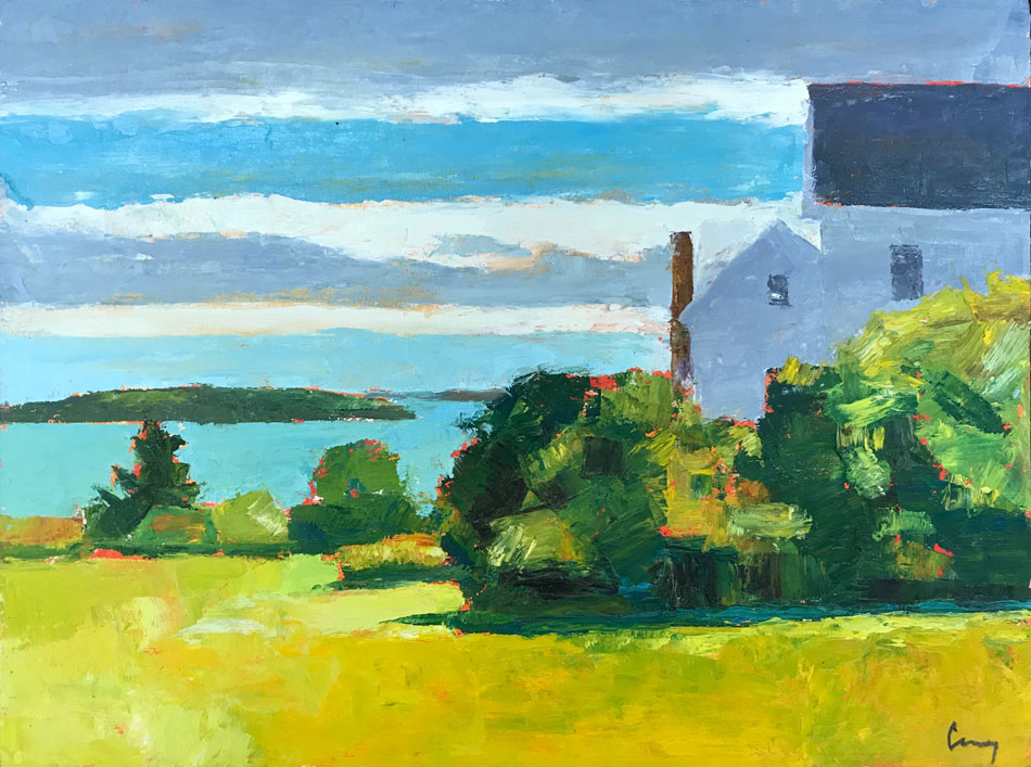 Tom Curry, Summer House, oil on canvas, 12 x 12