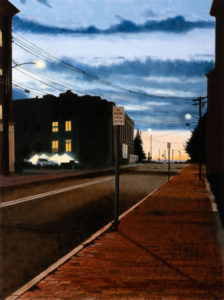 B MILLNER City Sundown oil on canvas wrapped panel, 24 x 18 inches $2500