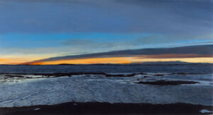 B MILLNER Currents oil on canvas wrapped panel, 24 x 44 inches SOLD