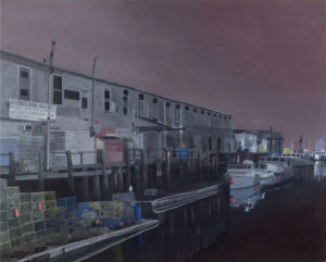 B MILLNER Harbor Fish, Verso oil on canvas wrapped panel, 24 x 30 inches SOLD