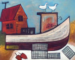 MATT BARTER Downeast Icons oil on board, 24 x 30 inches $2200