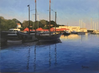 KEVIN BEERS Camden Harbor, oil on canvas, 20 x 24