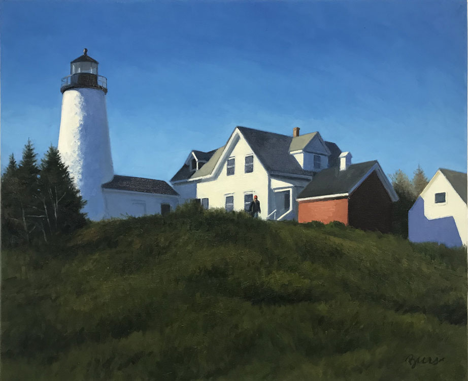 Kevin Beers, Castine Shadows, oil on canvas, 18 x 24