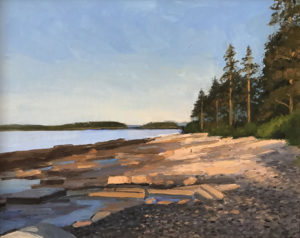 KEVIN BEERS Grindstone Neck, Winter Harbor oil on canvas, 11 x 14 inches $1800