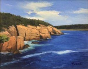 KEVIN BEERS Otter Cliffs oil on canvas, 11 x 14 inches $1800